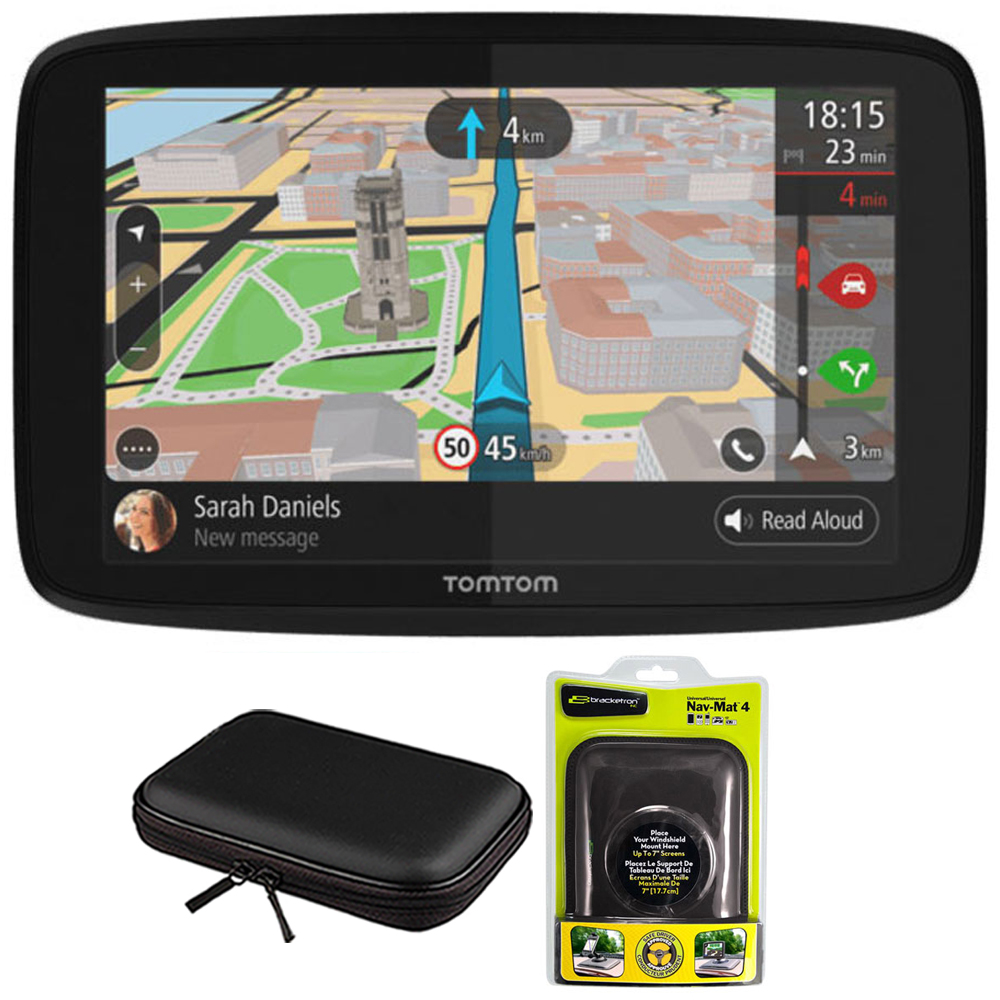 "TomTom GO 620 GPS 6"" Touch Screen (US-CAN-MEX) with Hardshell Case and Dash Mount"