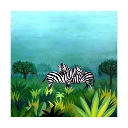 Zebra Print Room Decor (Zebras Print Wall Art)