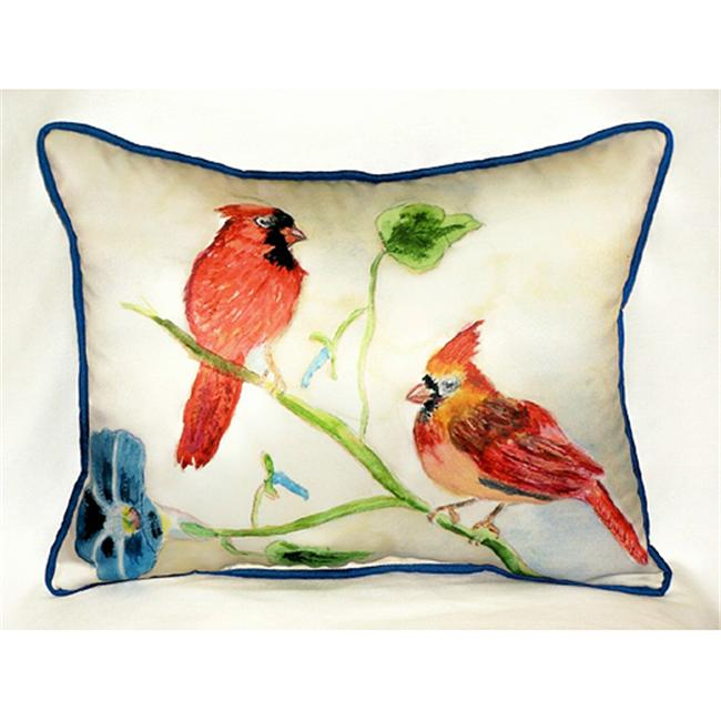 Betsy Drake HJ270 Betsy's Cardinals Art Only Pillow 15''x22''