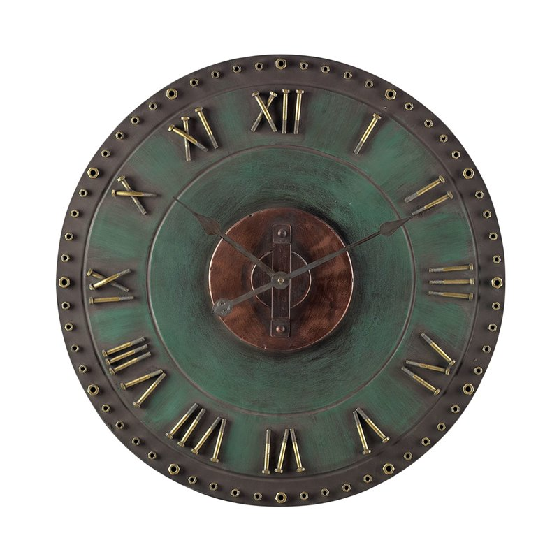 Sterling Metal Roman Numeral Outdoor Wall Clock 128-1004