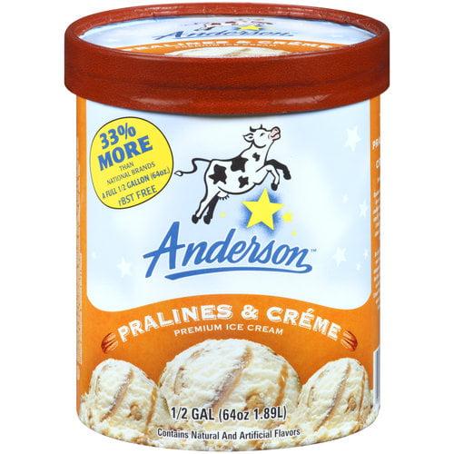 Anderson Pralines & Creme Premium Ice Cream, 64 oz