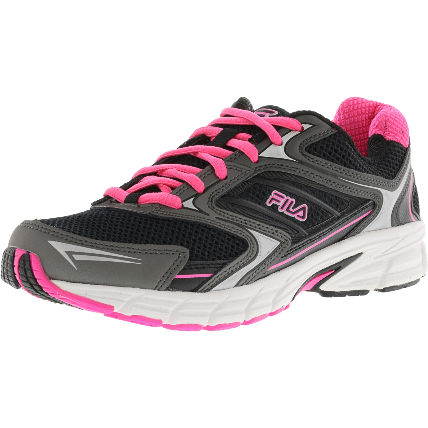 Fila Women's Xtent 4 White   Diva Pink Metallic Silver Ankle-High Running Shoe 8M by Fila