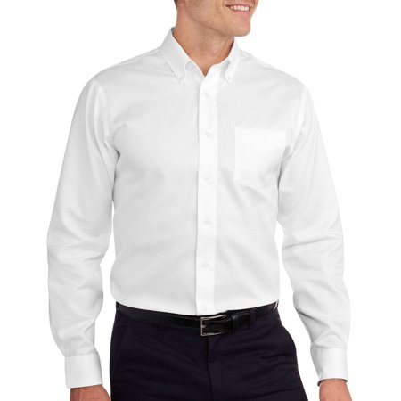 George men 39 s long sleeve solid no iron dress shirt for Mens no iron dress shirts