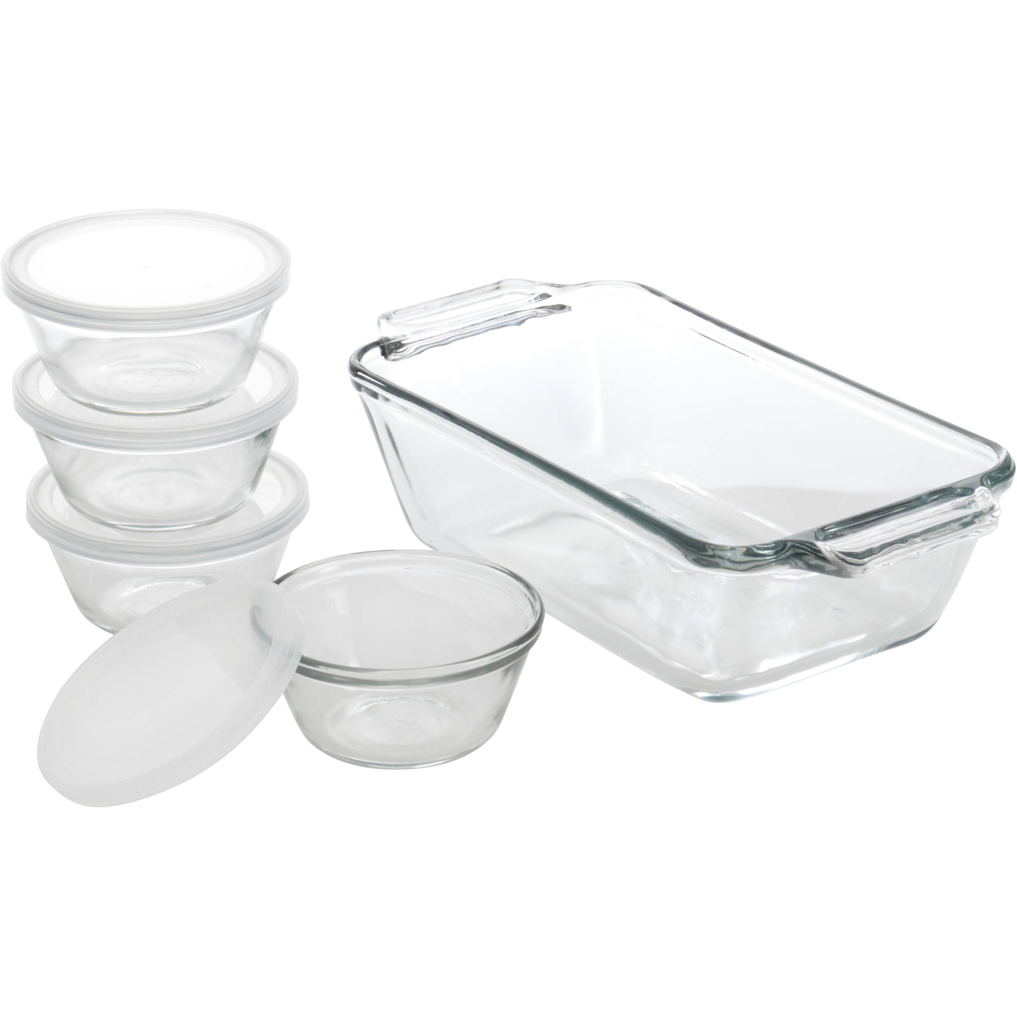 Anchor Hocking 15-Piece Bakware Set, Clear