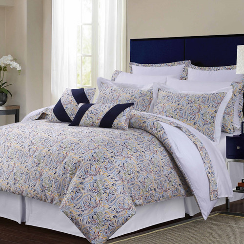 Tribeca Living 300TC Egyptian Cotton Sateen Fiji 12-Piece Bedding Set