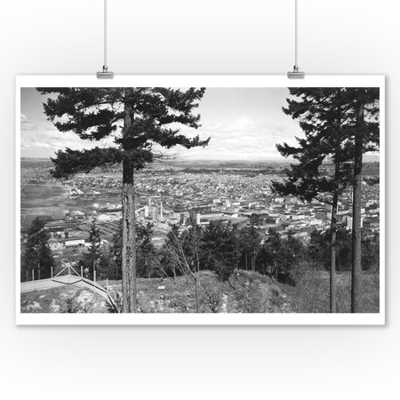 Bellingham, WA Town View from Sehome Hill Photograph #2 (9x12 Art Print, Wall Decor Travel Poster) ()