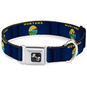 "Buckle-Down 15-26"" Montana Flags Dog Collar Bone, Large"