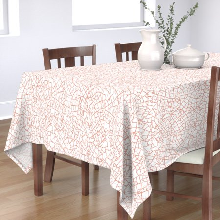 Image of Tablecloth Blush Blush Blush Blush Nursery Pale Dogwood Pale Cotton Sateen