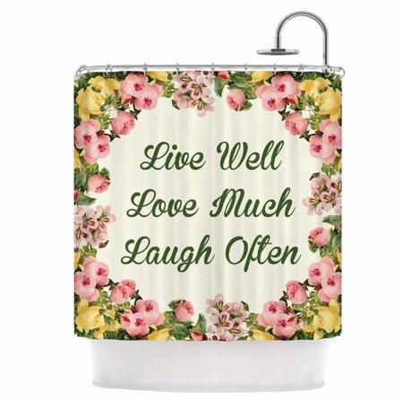 East Urban Home Live Love Laugh Shower Curtain