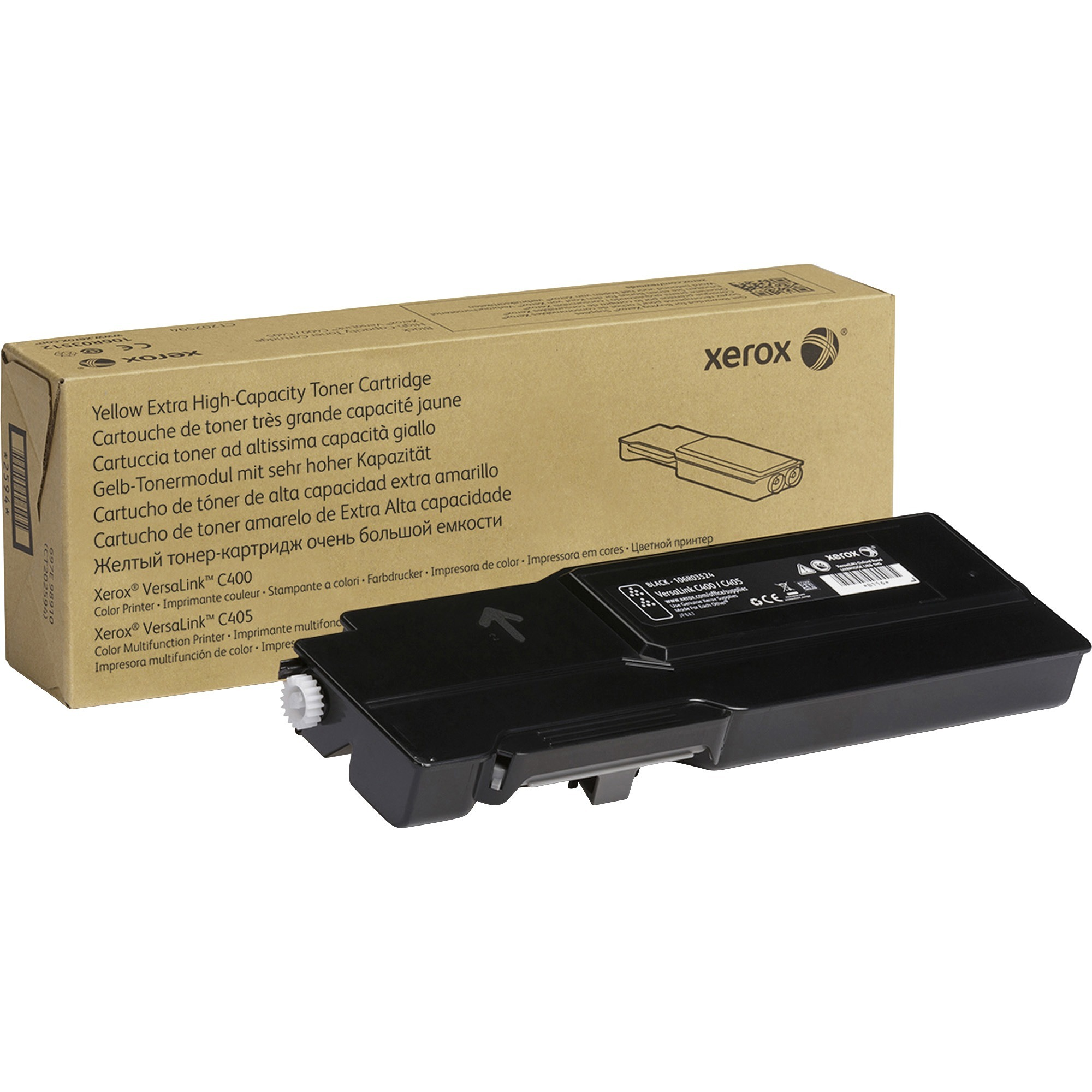 Xerox, XER106R03524, Genuine Black Extra High Capacity Toner Cartridge For The VersaLink C400/C405, 1 Each