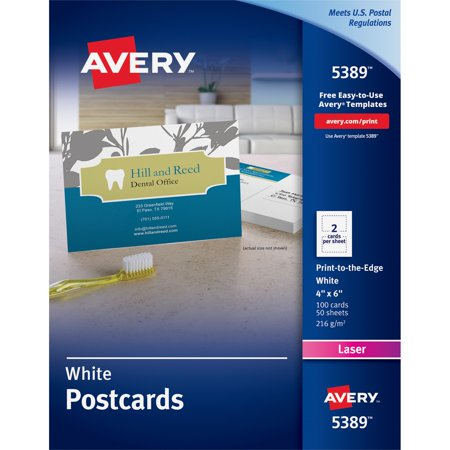 Avery postcard 4 x 6 in white 100 count 5389 walmart avery postcard 4 x 6 in white 100 count 5389 saigontimesfo