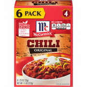 McCormick Chili Original Seasoning Mix (1.25 oz., 6 pk.)Pack of 2