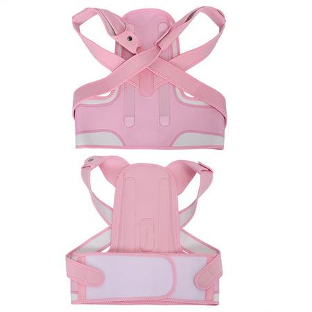 WALFRONT New Pink Back Shoulder Lumbar Waist Supporting Belt Bone Injury Correction Straighten Upper Back Slouching Corrective Prvent (M) - image 4 of 8