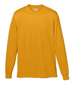 Augusta Sportswear MEN'S WICKING LONG SLEEVE T-SHIRT 2XL Power Orange