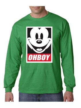 san francisco b6cf5 40ce7 Product Image New Way 416 - Unisex Long-Sleeve T-Shirt Oh Boy Mickey Mouse  Face