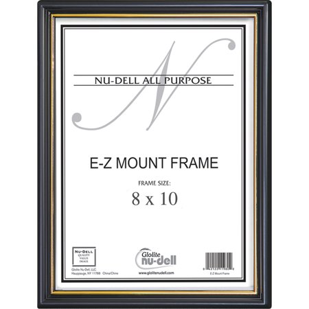 NuDell, NUD11800, EZ Mount Plastic Wall Frame, 1 Each, Black Strip,Black