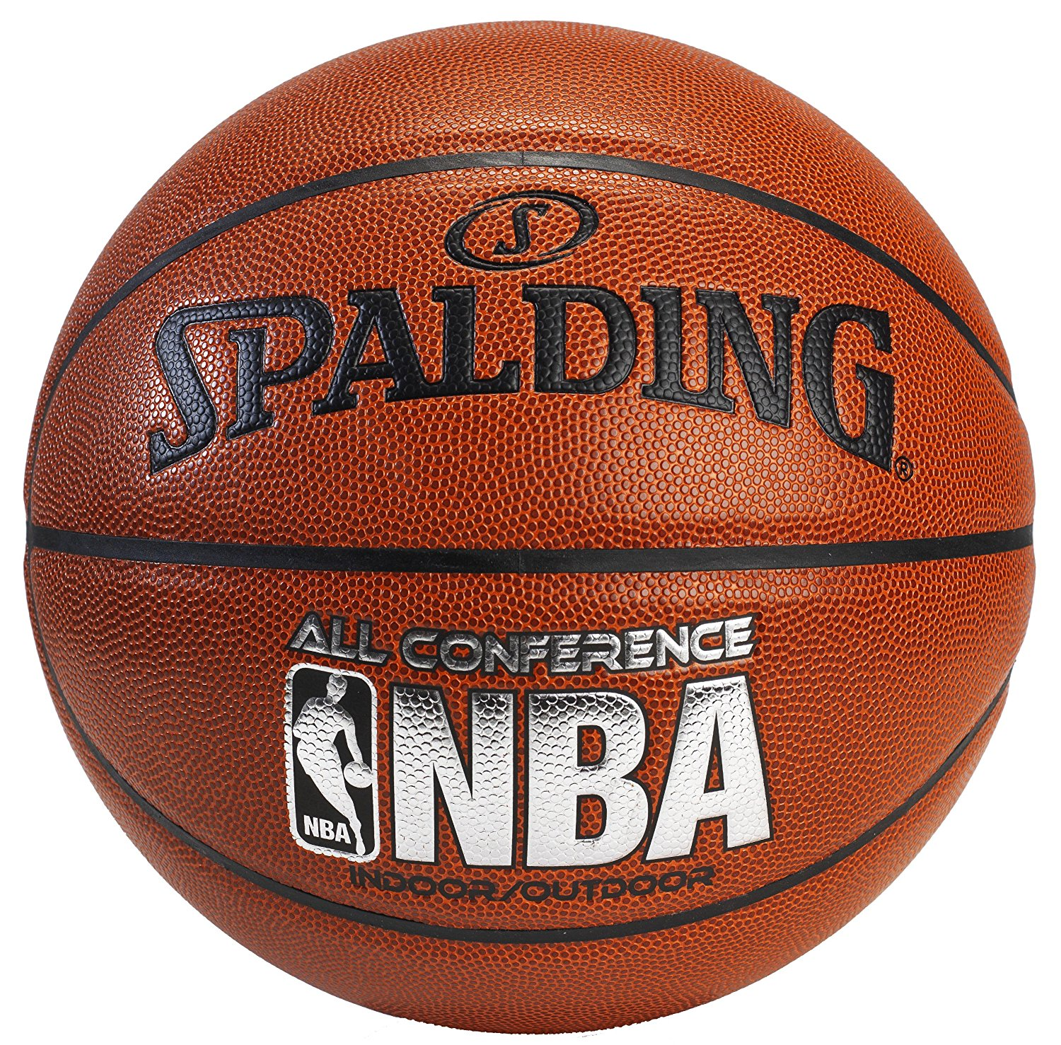 Spalding NBA All Conference 27.5 Comp Basketball Brown/Silver 27.5