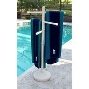 Portable Outdoor 3 Bar Towel Tree, Bone