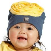 Baby Girls Blueberry Yellow Flower Hat 3-24M