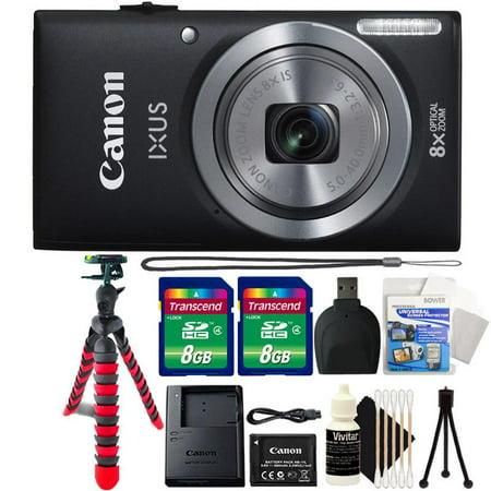Canon Powershot Ixus 185 / ELPH 180 20MP Compact Digital Camera Black with