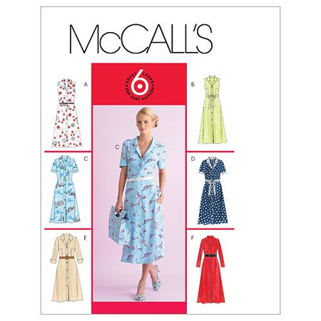 Petite Length - McCall's Patterns M4769 Misses'/Miss Petite Dress In 2 Lengths and Bias Sash, Size BB (8-10-12-14) By McCalls Patterns