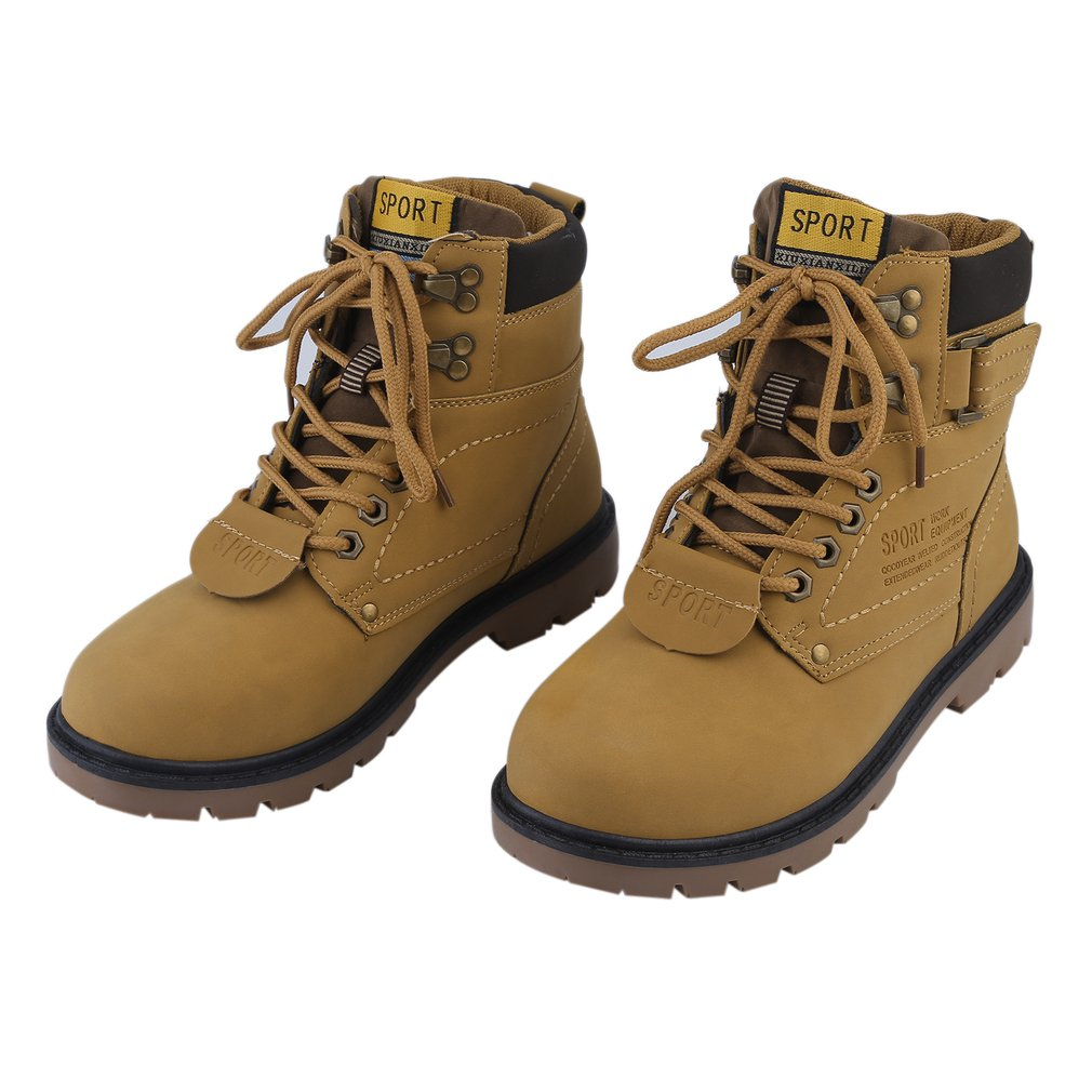 2018 New Upgraded Outdoor Casual Non Slipping Wearable Comfortable Shoes Men'S Martin Boots(Brown)