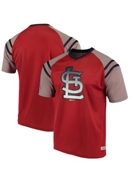 52a3a0c6 Product Image St. Louis Cardinals Stitches V-Neck Mesh Jersey T-Shirt - Red/