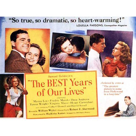 The Best Years of Our Lives POSTER Movie Half Sheet A