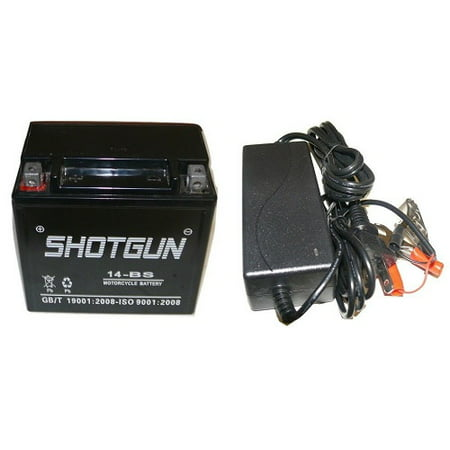 SHOTGUN YTX-14BS Battery CHARGER COMBO For Honda Shadow Buell FREE