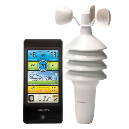 AcuRite 01604 Pro Color Weather Station with Wind (Metal Weather Station)