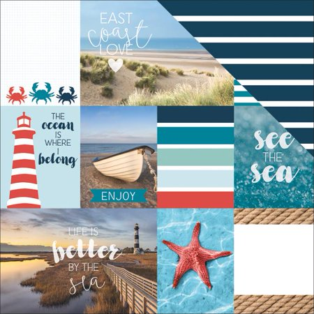 Discover Usa Double Sided Cardstock 12 X12  East Coast Tags   Case Pack Of 15