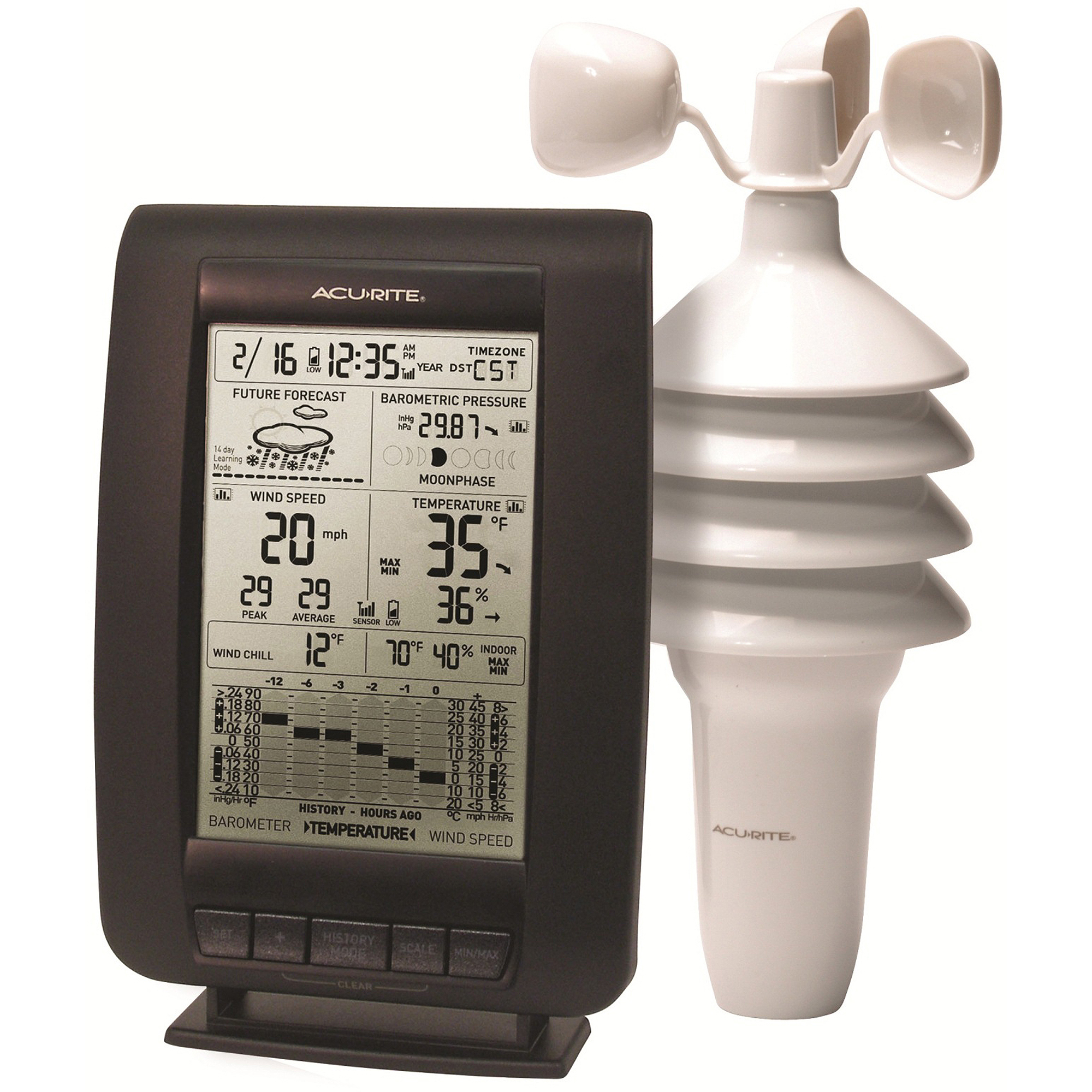 AcuRite Wireless 3-in-1 Digital Weather Center