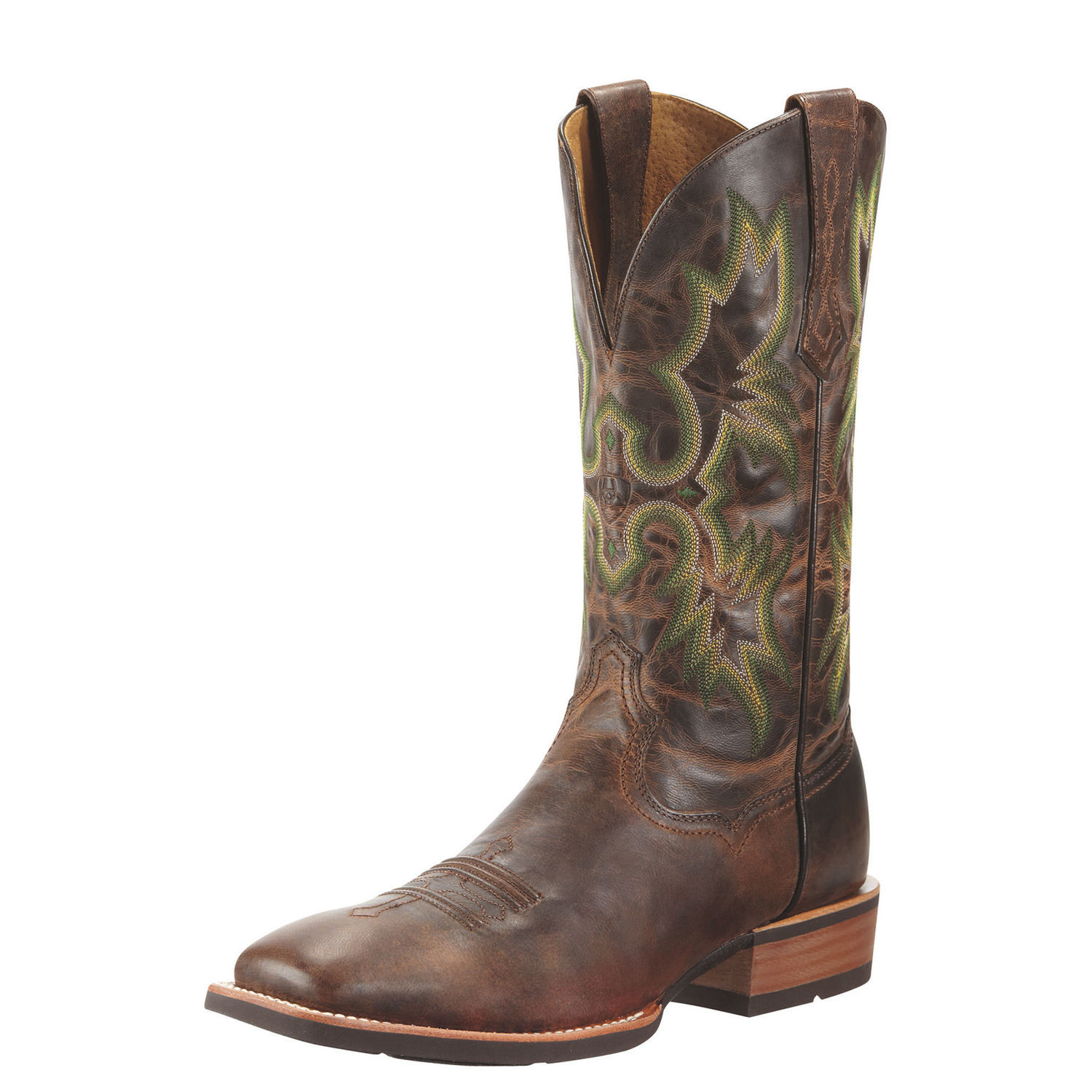 Ariat Tombstone Men Square Toe Leather Brown Western Boot