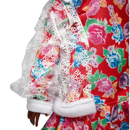Barbie BMR1959 - Clear Vinyl Bomber Jacket & Floral Hoodie Dress