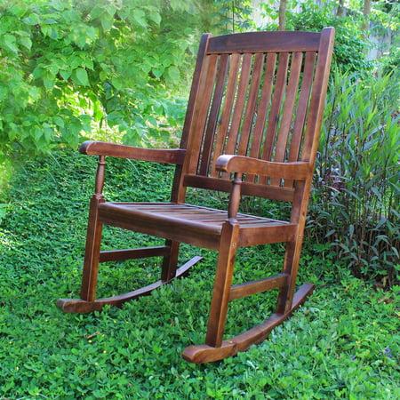 Traditional Wood Porch Rocker ()