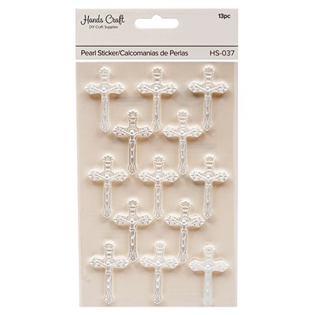 New 379564  Angels Craft Pearl Stickers Cross (12-Pack) School Supplies Cheap Wholesale Discount Bulk Stationery School Supplies Lighters - Cheap Stickers