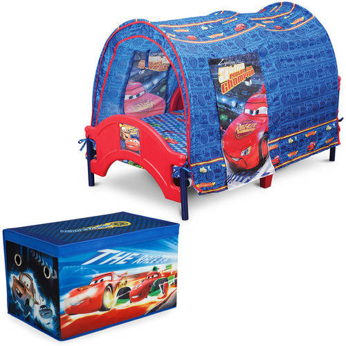 Disney/Pixar Cars Toddler Tent Bed with Fabric Toy Box ...
