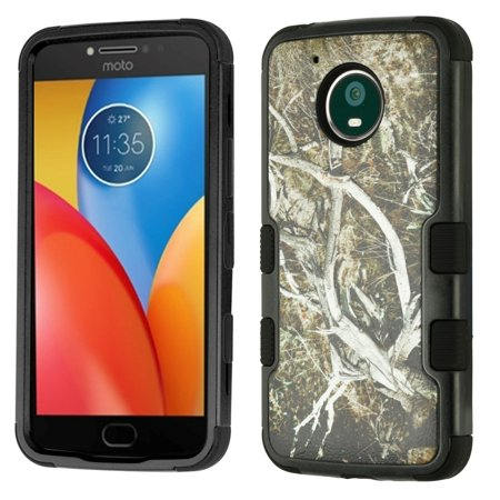 Military Grade Certified TUFF Image Hybrid Armor Case for Motorola Moto E4 Plus - Camouflage Tree