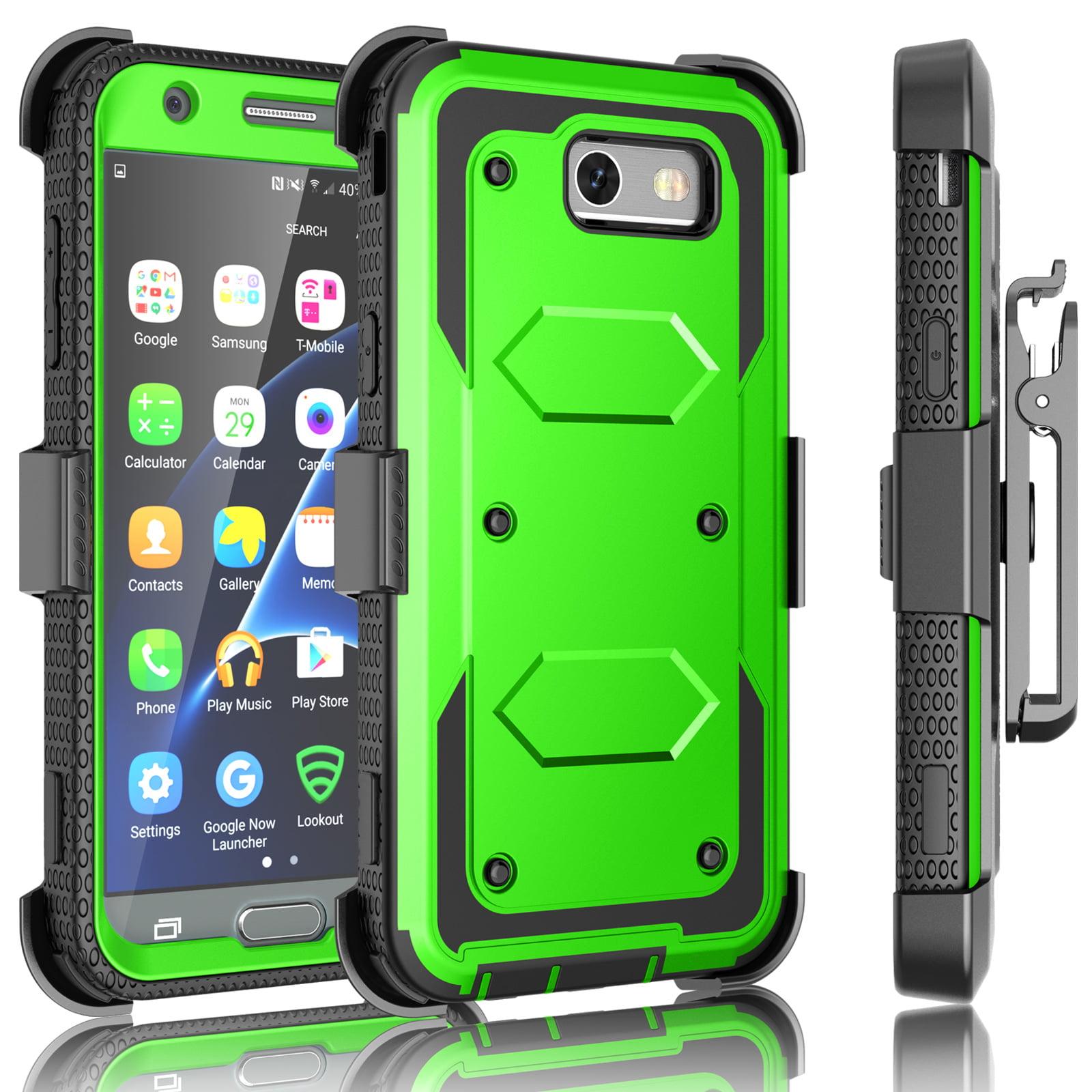 quality design e6edb 991dc J3 Emerge / J3 Prime Case, Samsung Galaxy J3 Mission / J3 Eclipse / Express  Prime 2/ Amp Prime 2/ J3 Luna Pro Holster Clip, Tekcoo [Tshell Green] ...