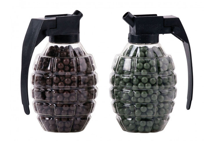 Marines Grenade shaped BB loader MCHG Airsoft 1600 count total (800 count each) by Crosman