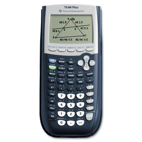 Texas Instruments TI-84 Plus Graphing Calculator - Clock, Date, Battery Backup - 24 KB, 480 KB - RAM, Flash - 8 Line(s)