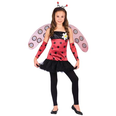 Fun World Girls 'Lovely Ladybug' Child Costume](Kids Lady Bug Costume)