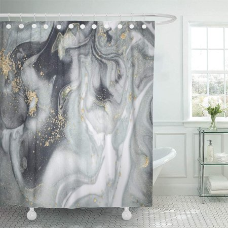 PKNMT Natural Luxury Incorporates The Swirls of Marble Ripples Agate for Luxe Effect Trend Shower Curtain Bath Curtain 66x72 inch ()