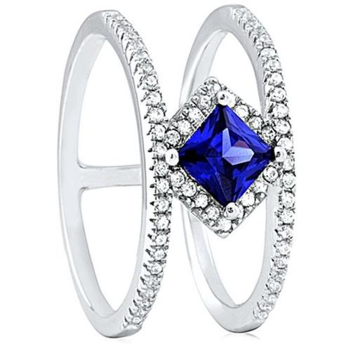 Doma Jewellery SSRZ6556 Sterling Silver Ring With Micro Set CZ, Size 6