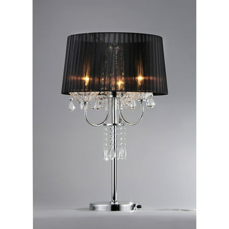 'Victoria' Crystal and Chrome Table Lamp ()