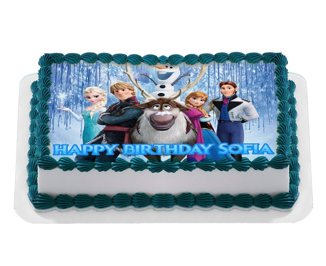 Disney Frozen Quarter Sheet Edible Photo Birthday Cake Topper Personalized 1 4 Sheet Nbsp Walmart Com Walmart Com