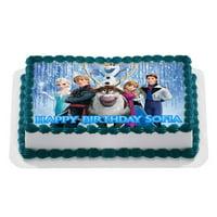 Disney FROZEN Quarter Sheet Edible Photo Birthday Cake Topper. ~ Personalized! 1/4 Sheet