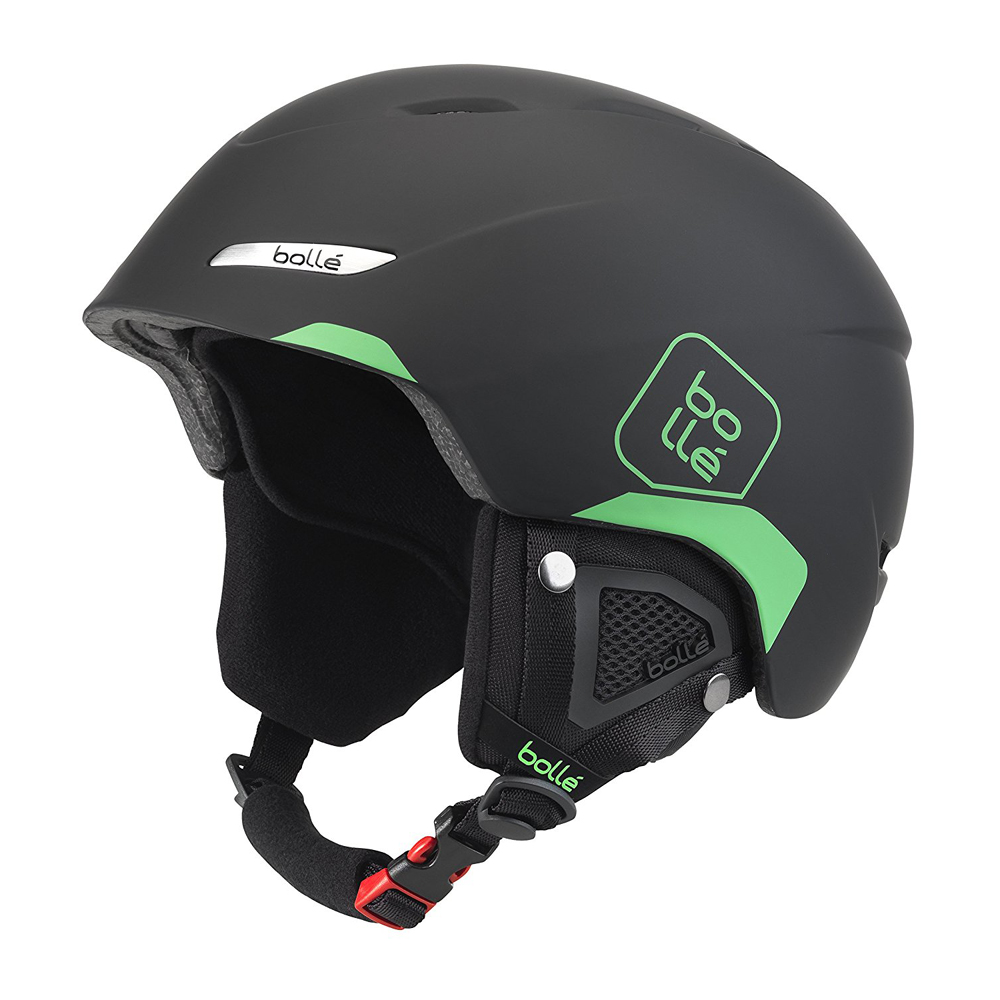 Bolle Winter B-Yond Soft Black & Green 58-61cm 31457 Ski Helmet Click-to-Fit by Bolle