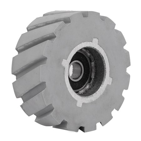 60mmx8mmx24mm Rubber Coated Steel Pinch Roller Rolling Wheel Gray ()