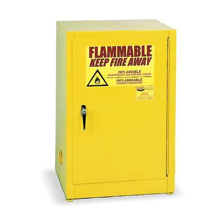 Eagle Flammable Liquid Safety Cabinet, Galvanized Steel, Yellow, 1925